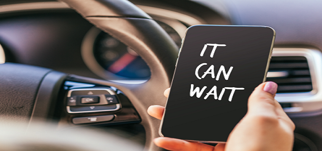 It can wait. Stop distracted driving.