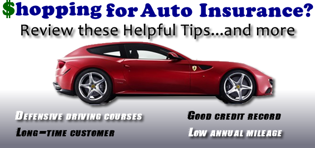 shopping for auto insurance logo