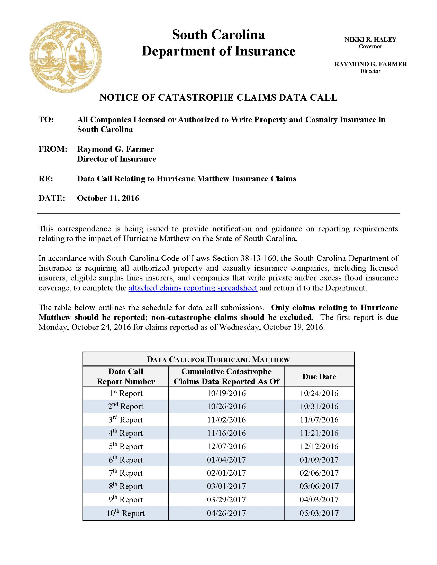 Data Call Relating to Hurricane Matthew Insurance Claims 2016.10.11_Page_1.jpg